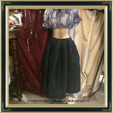 Black taffeta maxi skirt on sale