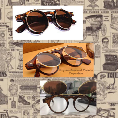 Zeppelin Retro Style Sunglasses with Flip-Up Lenses