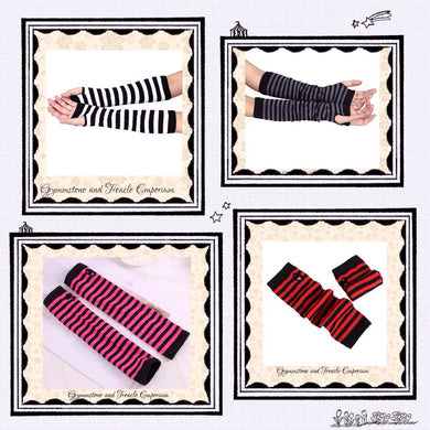 Striped Fingerless Armwarmers