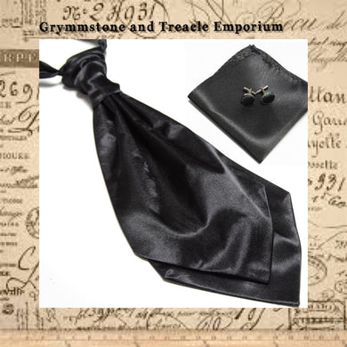 Cravat - Satin Set with Cufflinks and Pocket Square
