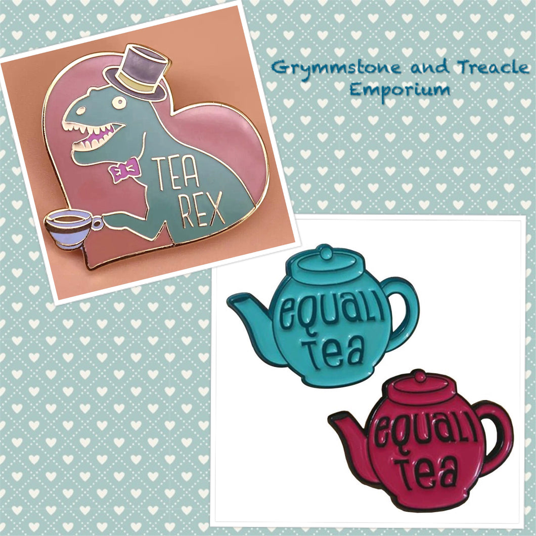 Tea Themed Pins