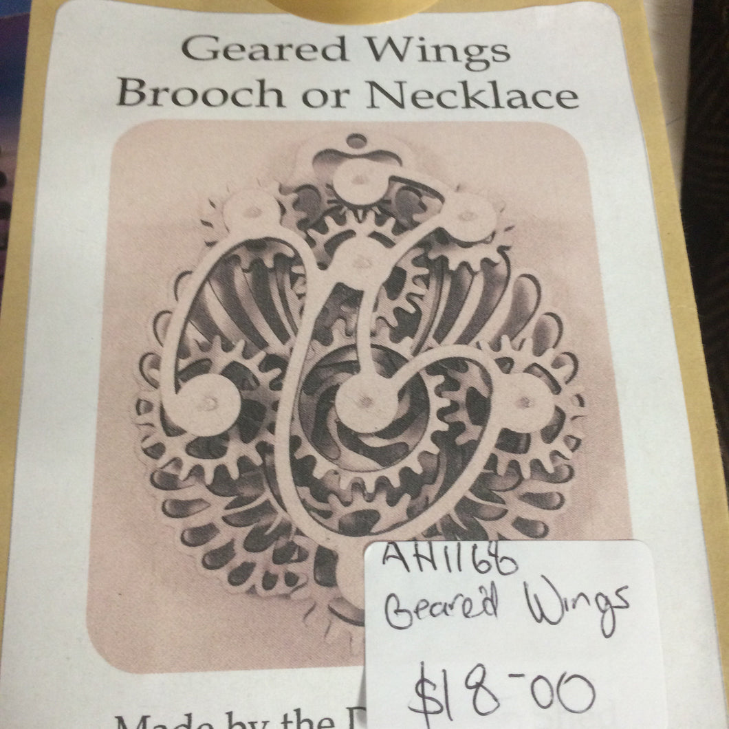 Geared Wings Brooch