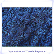 Waistcoat - Baroque Blue Close-Up of Fabric