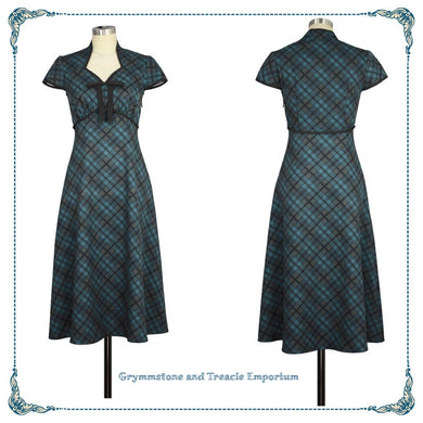 Retro Forties Plaid Dress