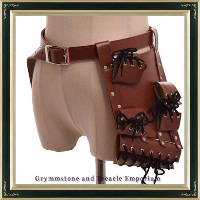 Steampunk Holster on Belt.