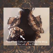 Striped Shrug and Cuffs Set - One of a Kind
