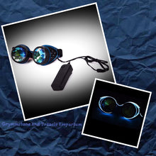 Fibreoptic Blue Light-Up Steampunk Cyberpunk Goggles