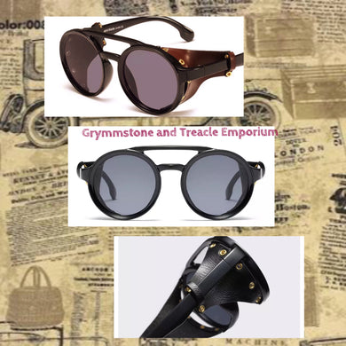 Verne Vintage Style Sunglasses with Faux Leather Side Shields