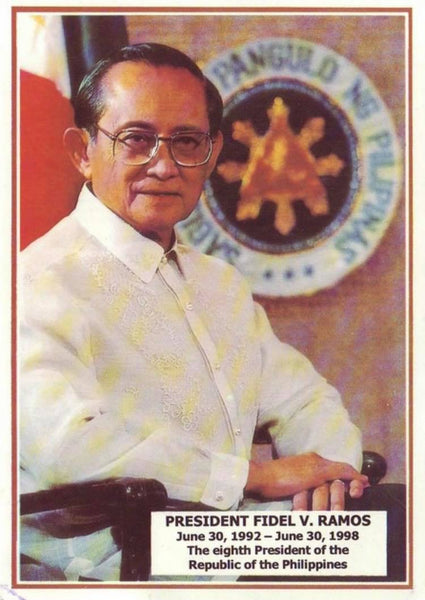 Journey of the Barong Tagalog, 20th Century Philippines Part 40: President Fidel Ramos