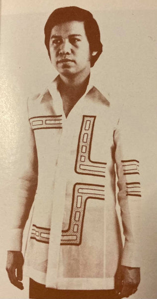 Journey of the Barong Tagalog, 20th Century Philippines, Part 19: 1970's Op Art Barongs