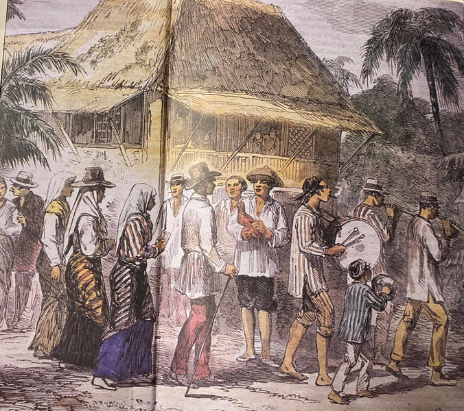 Journey of the Barong Tagalog, Addendum Part 4: Marriage Procession in Manila in 1857