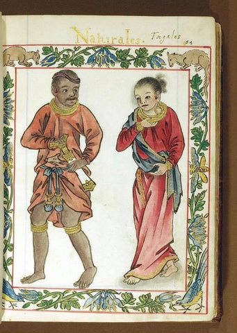 Royal Tagalog couple in Red from the Boxer Codex