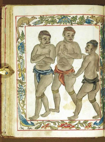 From the Boxer Codex: Either common Tagalog native men or native Visayan slave men
