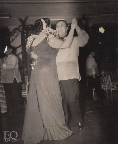 Quirino dances in a Barong Tagalog at a family birthday party