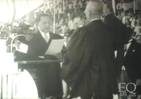 President Quirino's second oath-taking ceremony as president at his inauguration on December 30, 1949