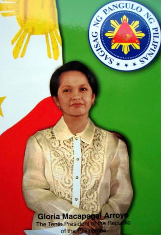 Arroyo wears a piña Barong Tagalog in this presidential portrait