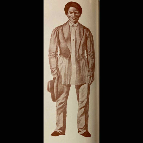 Artist rendering of Filipino man of the principalia class wearing untucked barong under his jacket in the Philippines during Spanish colonial times from The Barong Tagalog: The Philippines' National Wear (1986) by Visitacion R. de la Torre.