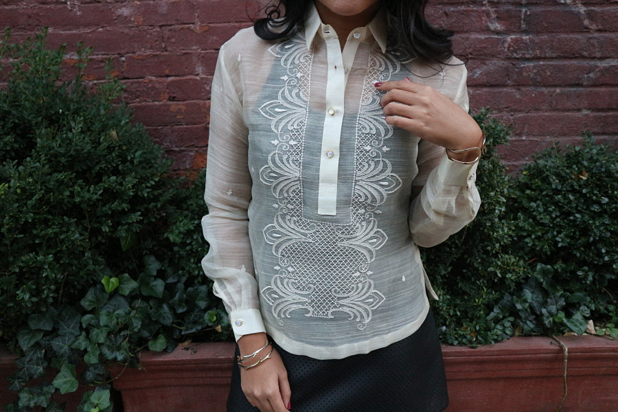 Example of a Slim Cut, Women's Fit Barong