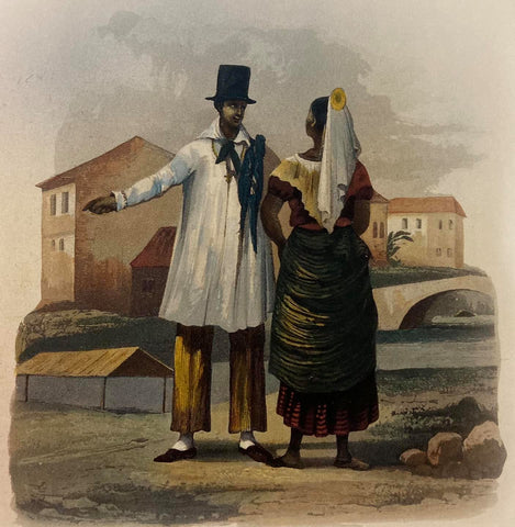 """Laplace - Manille: Tagals homme et femme"""", 1835 - features a Tagalog man in a Barong Tagalog and woman in baro't saya"""