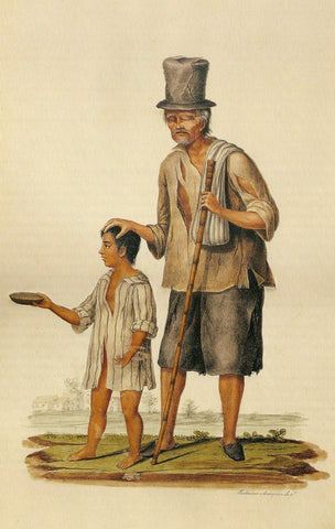 "Justiniano Asunción's ""Old Beggar Led by a Young Boy"", 19th century."