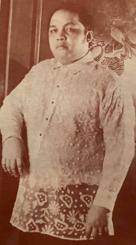 Lawyer and businessman Tito Tesoro wears a Patis Tesoro Barong Tagalog with all-over embroidery