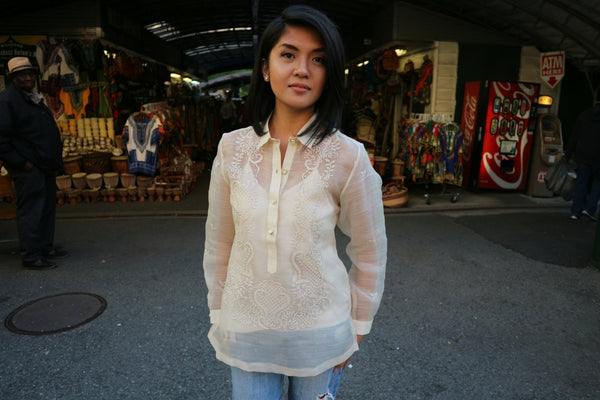 Example of a Regular Cut Women's Fit Barong