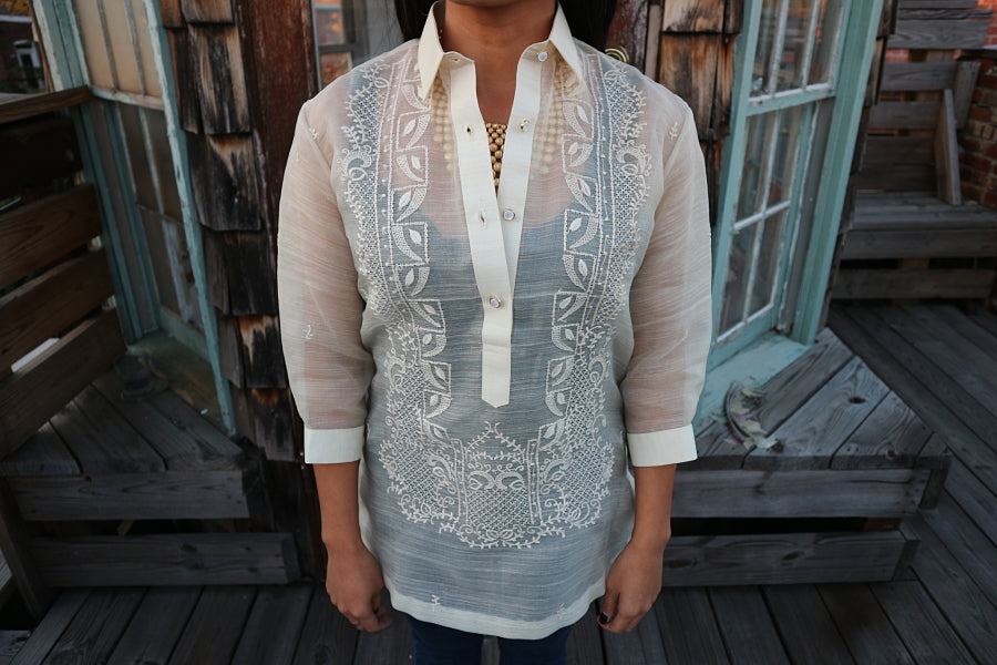Example of 3/4 Sleeves with Buttoned Cuffs