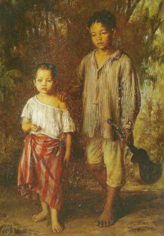 "Felix Resurreccion Hidalgo's ""The Beggars"", 19th century."