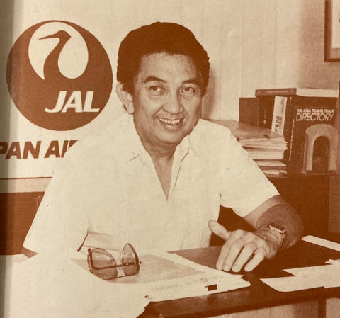 Japan Airlines executive Totoy Tirona at his office in a polo barong
