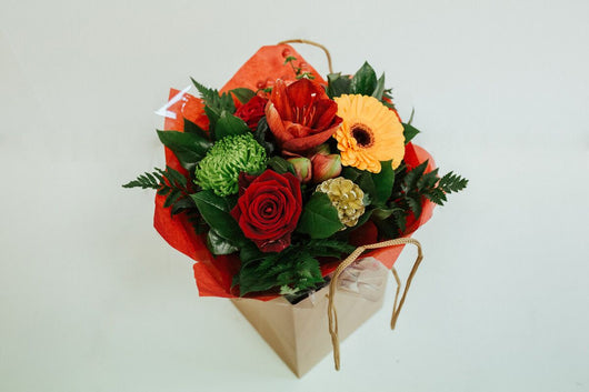 Boxed Bouquet Red