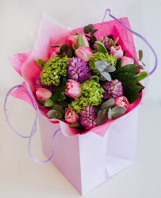 Mothers Day: Spring design, boxed posy