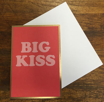 Big Kiss Valentines Card