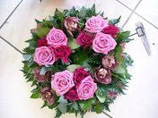 Funeral Wreath Pinks