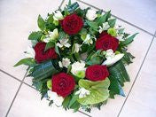 Funeral Wreath Red & White