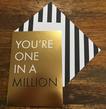 One In A Million Valentines Card