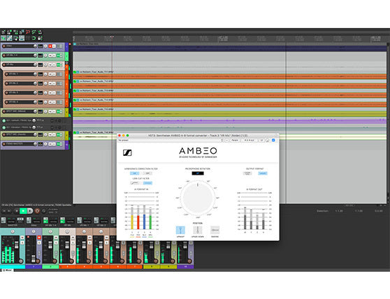 Try a sample Reaper session and get started with AMBEO for VR