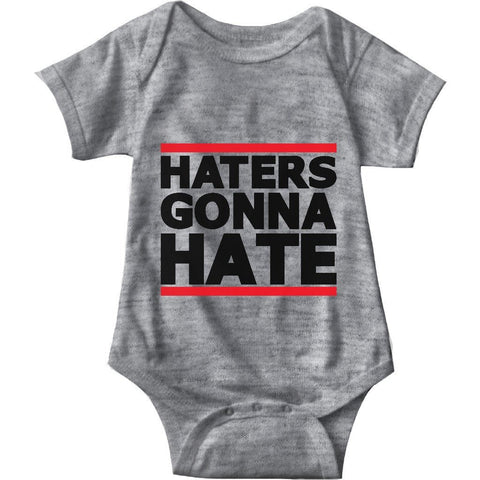 Haters Gonna Hate Gray Infant Onesie | Sarcastic ME
