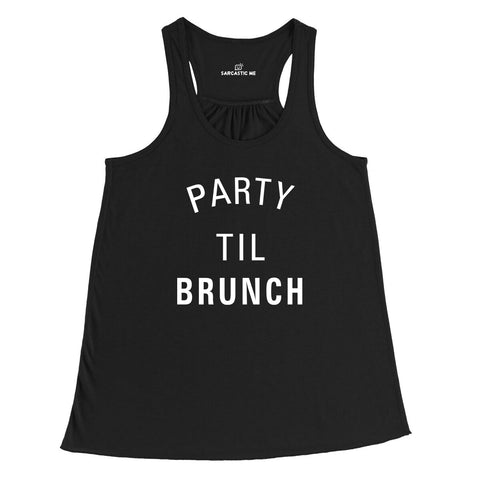 Party Til Brunch Black Women's Racerback Tank-Top | Sarcastic Me