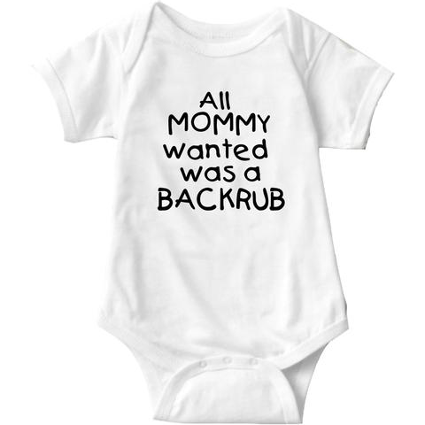 All Mommy Wanted Was A Backrub Onesie | Sarcastic ME