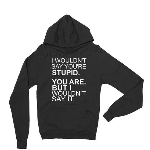 I Wouldn't Say You're Stupid Hoodie | Sarcastic ME