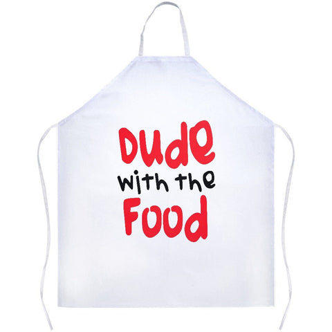 Dude With The Food White Apron | Sarcastic ME