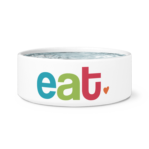 Eat White Pet Bowl | Sarcastic ME