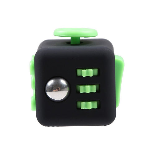 Stress Reliever Fidgety Squeeze Cube Black / Green | Sarcastic ME