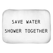 Save Water Shower Together Bath Mats