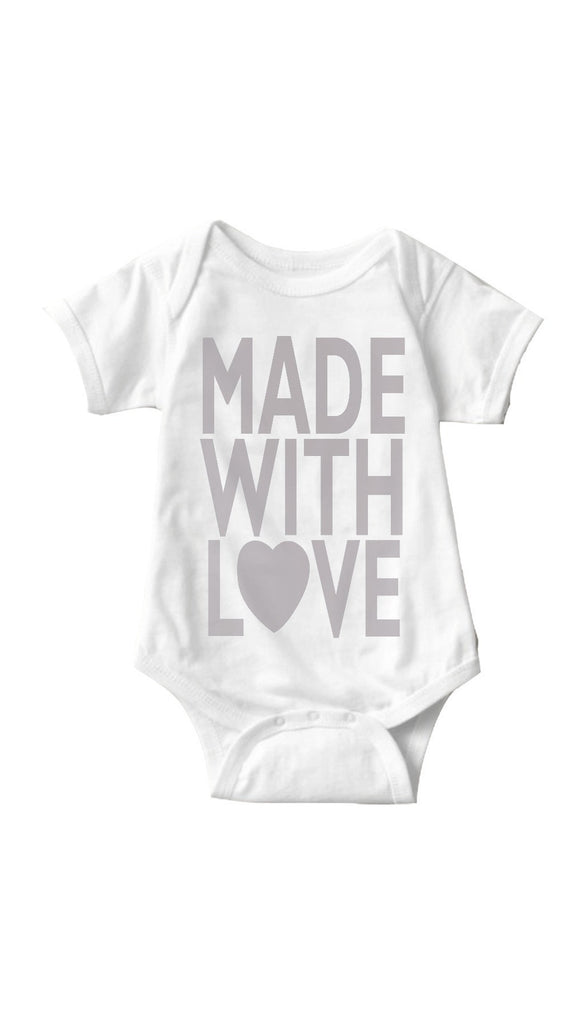 Made With Love White Baby Onesie | Sarcastic Me