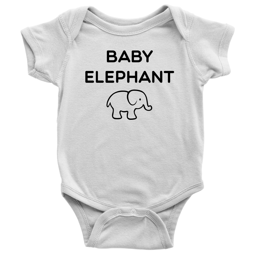 Baby Elephant Infant Onesie