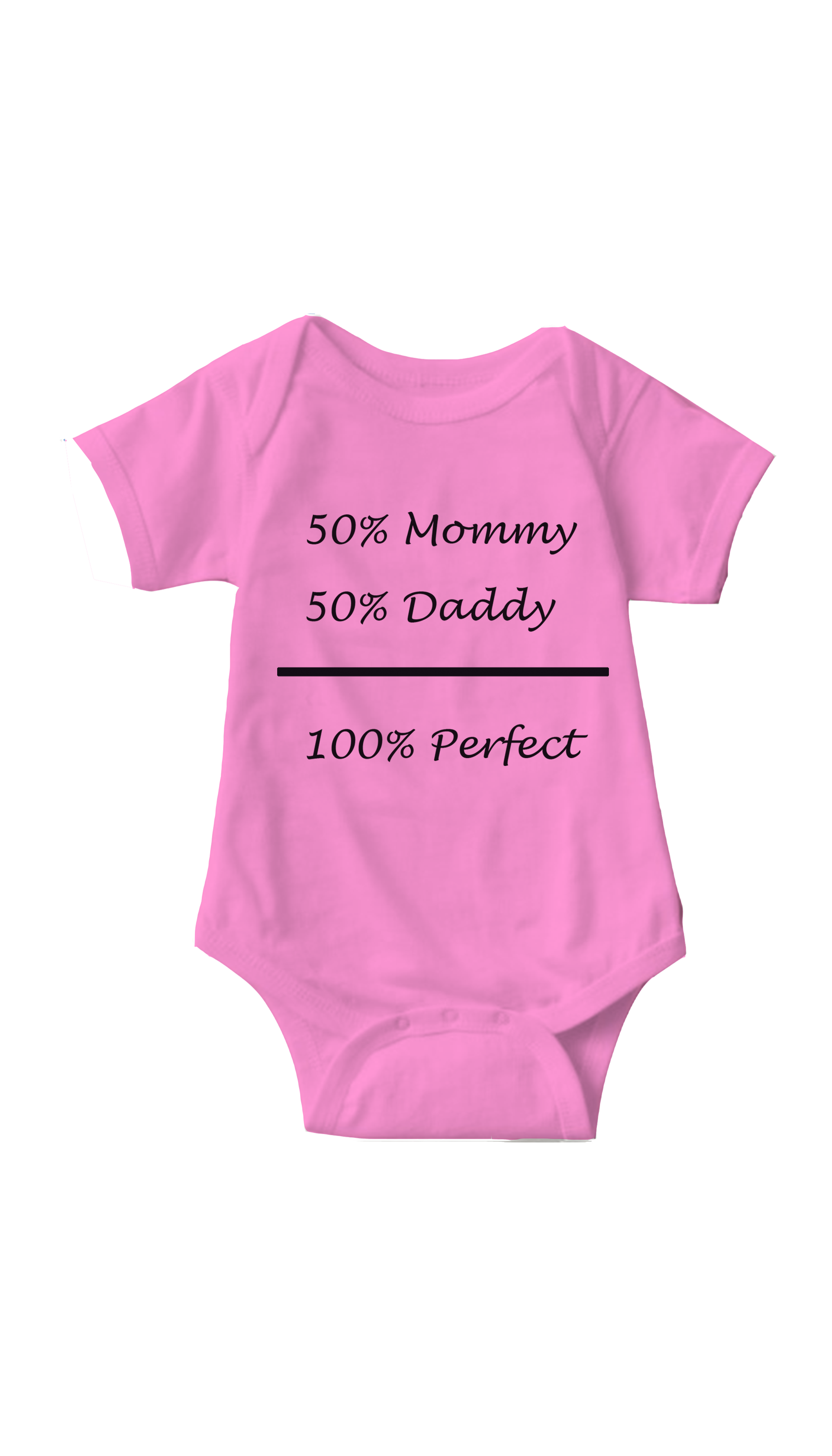 100% Perfect Pink Infant Onesie | Sarcastic ME