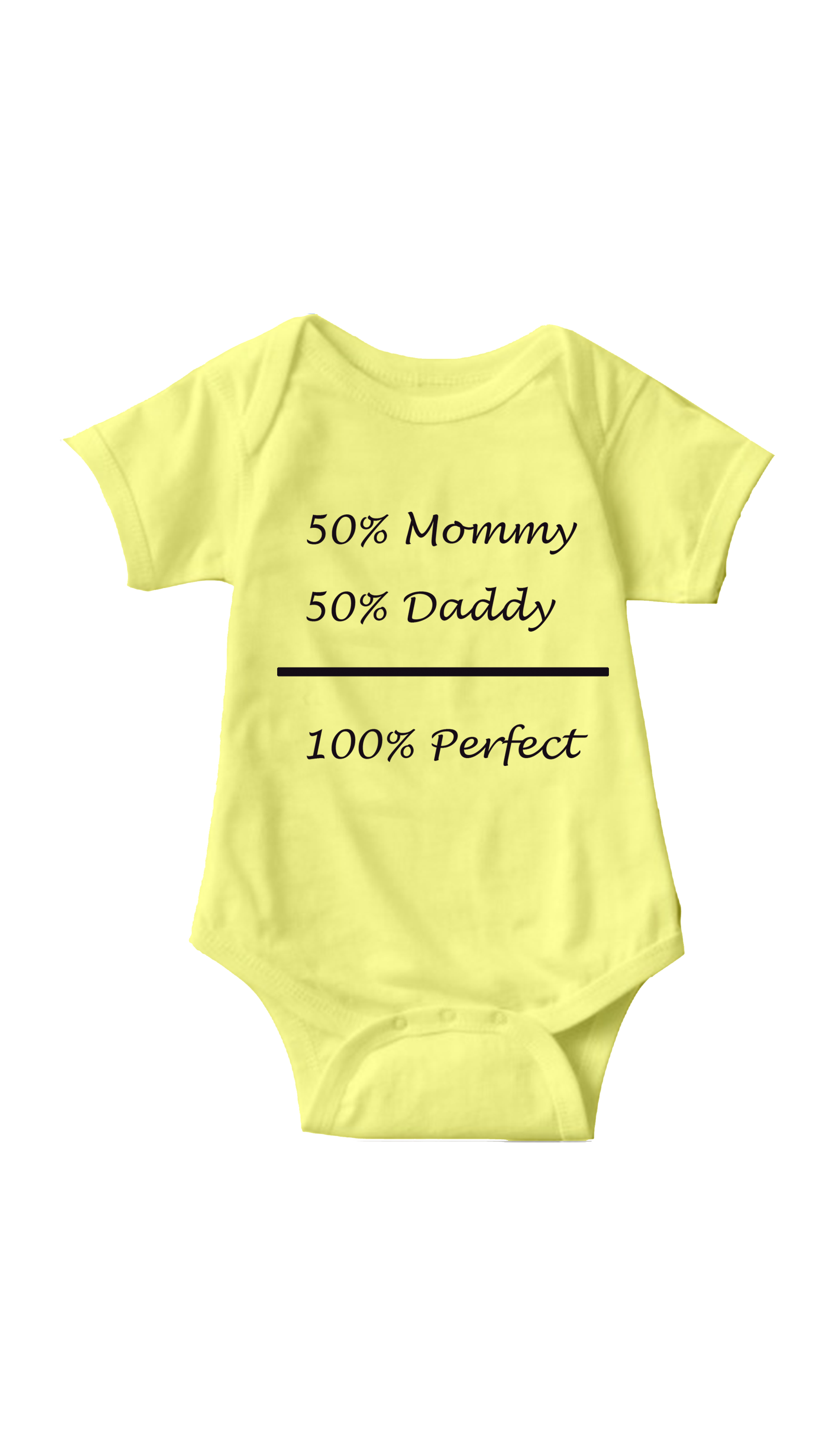 100% Perfect Yellow Infant Onesie | Sarcastic ME