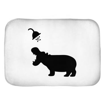 Funny Hippo Shadow Bath Mats