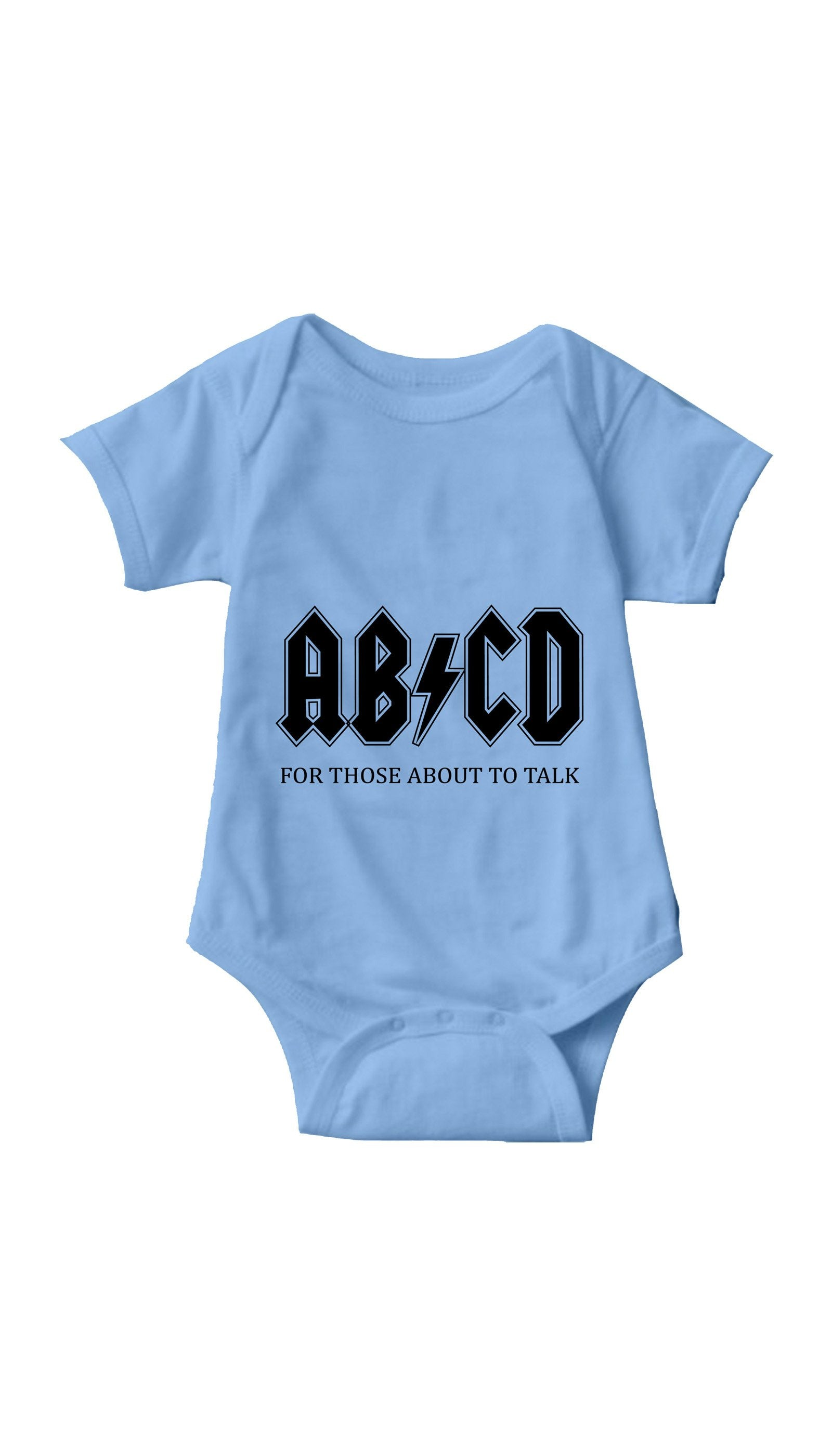 ABCD Light Blue Infant Onesie | Sarcastic ME
